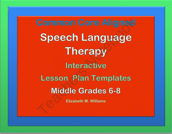 New For Middle Grades 6 8 A Set Of Lesson Plan Templates For