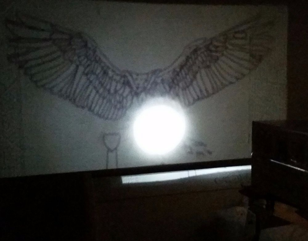 Diy Wall Mural With A Homemade Projector Amazing