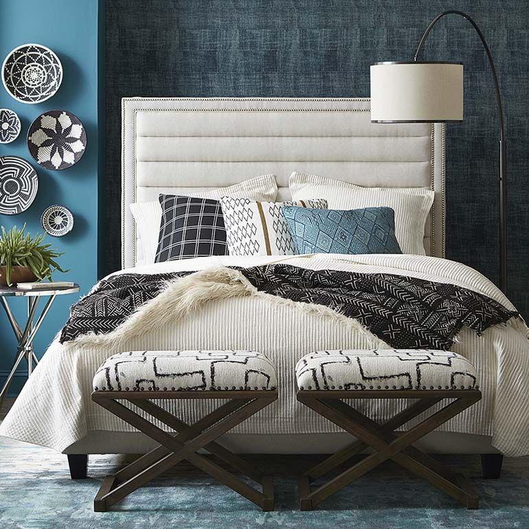 Custom Uph Beds Westbury Rectangular Bed Upholstered