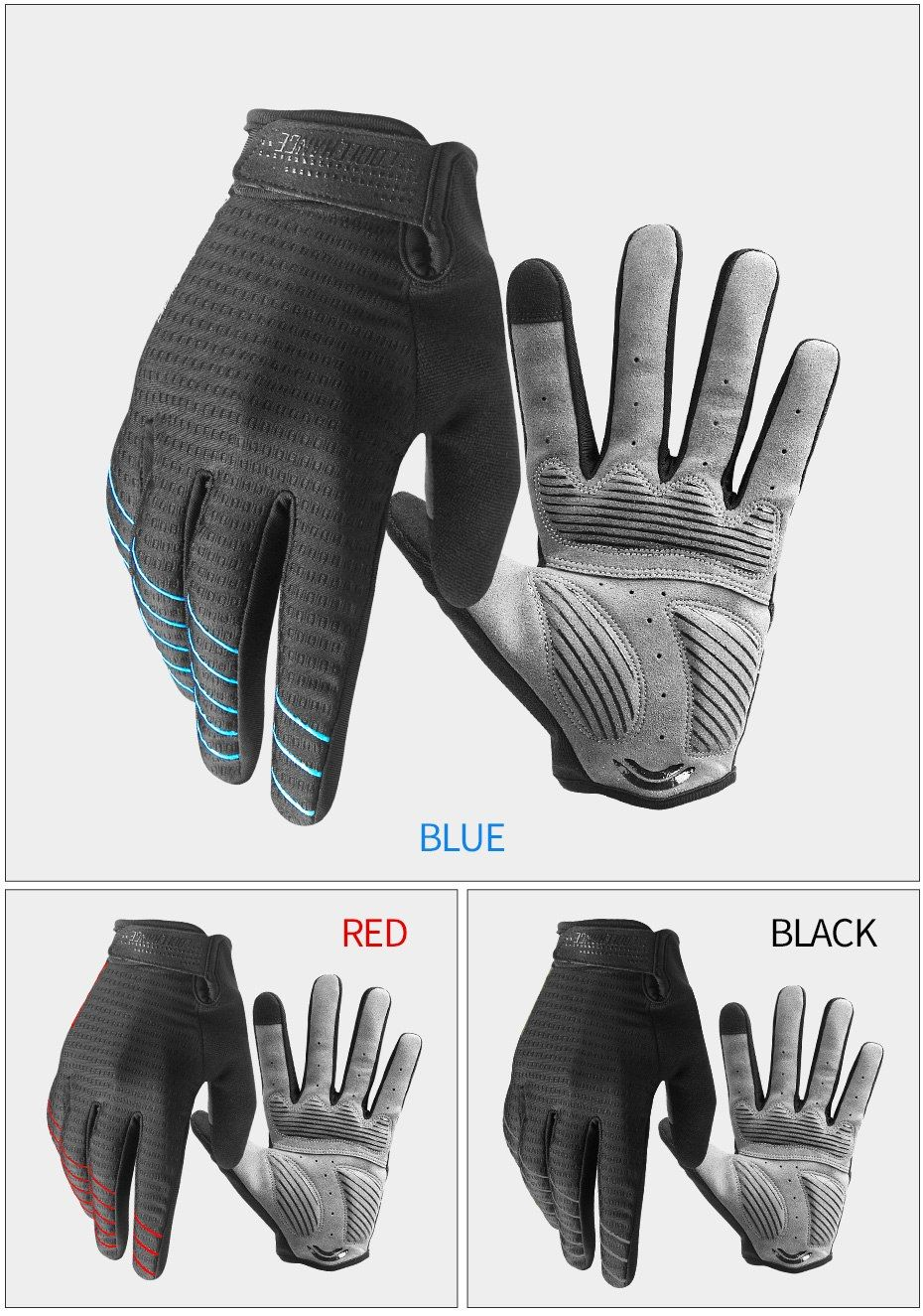Cycling Gloves Full Finger Sport Shockproof MTB Mountain Bike Touch Screen NEW