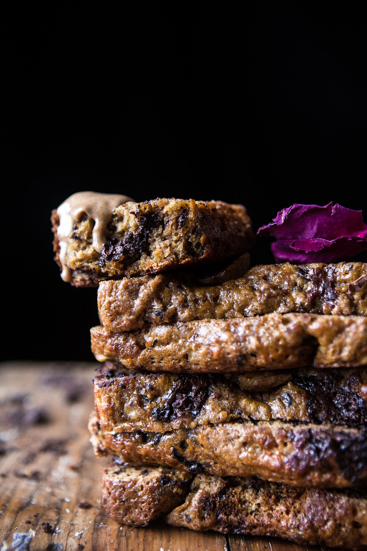 Chocolate Chip Almond Butter Banana Bread | halfbakedharvest.com @hbharvest
