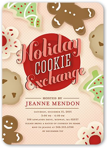 Holiday Party Invitations Cookie Exchange Holiday Invitation