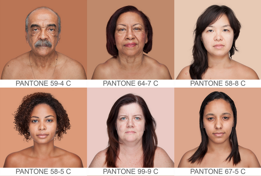 Angela Dass has matched 2,000 human faces with Pantone hues, creating the first database of skin hues in existence. This project, called Humanae, was started in April 2012. Angela began by photographing a few of her Brazilian family members, sampling a pixel from a well-lit area in the subject's cheek. She then matched it to a Pantone hue and used that color as a backdrop. She has now photographed 2,000 people for her Humanae collection, which resulted in a beautiful index of pink, brown,...