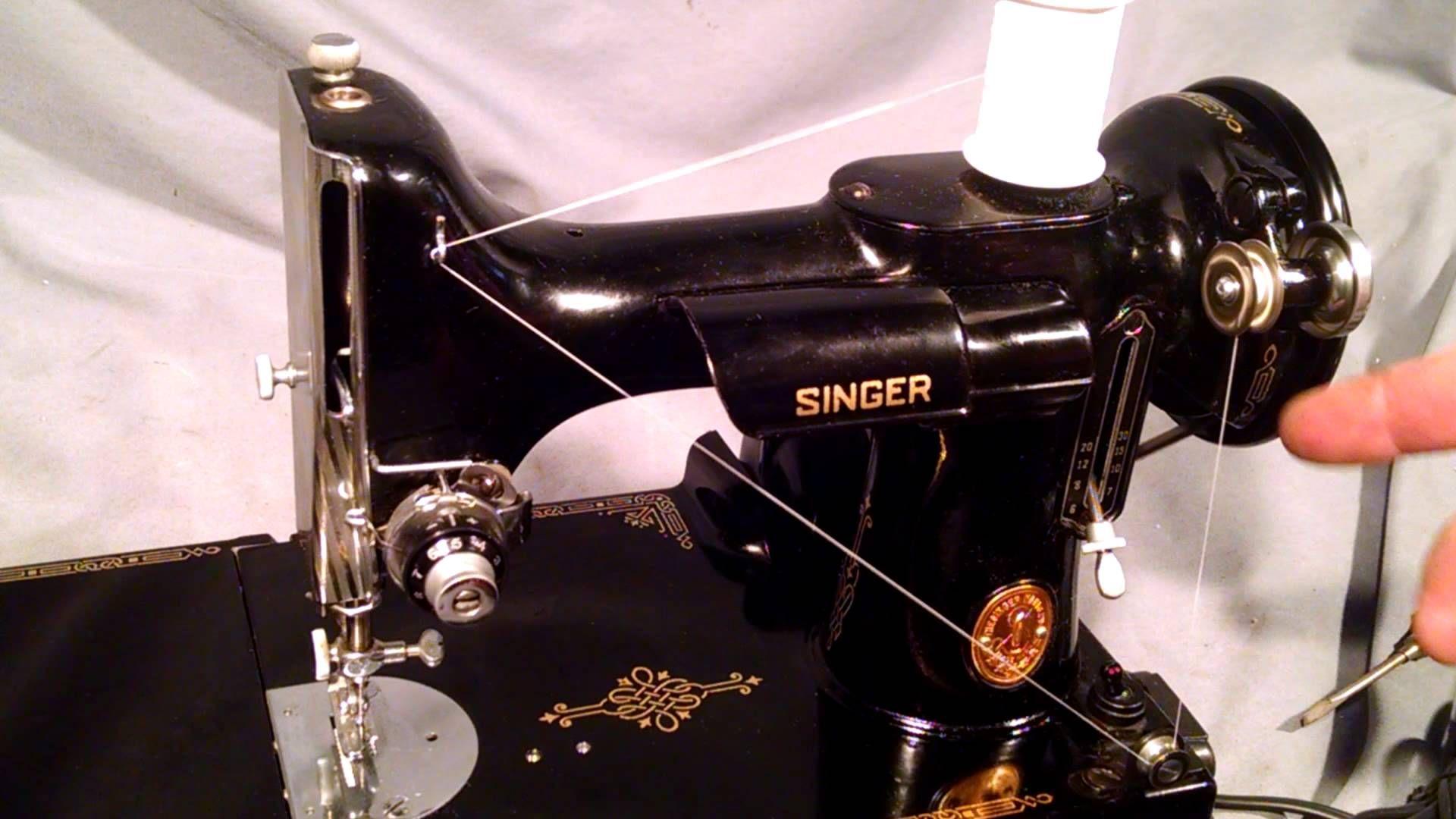 How to Wind Bobbin and Thread Bobbin Case for Vintage Singer Featherweig.