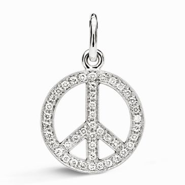 Peace sign diamond pendant what inspires me pinterest peace sign diamond pendant mozeypictures Choice Image