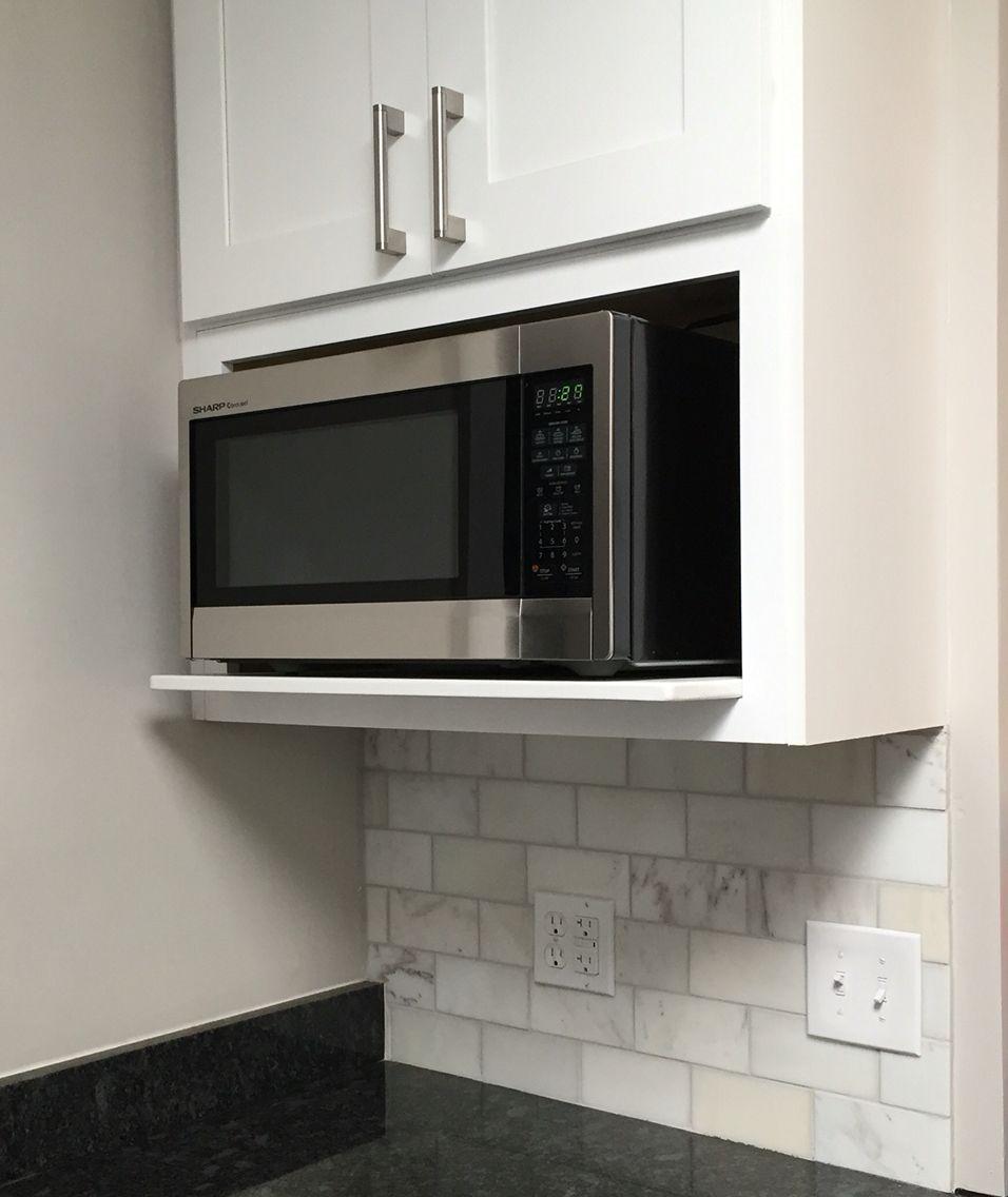 microwave in kitchen microwave shelf