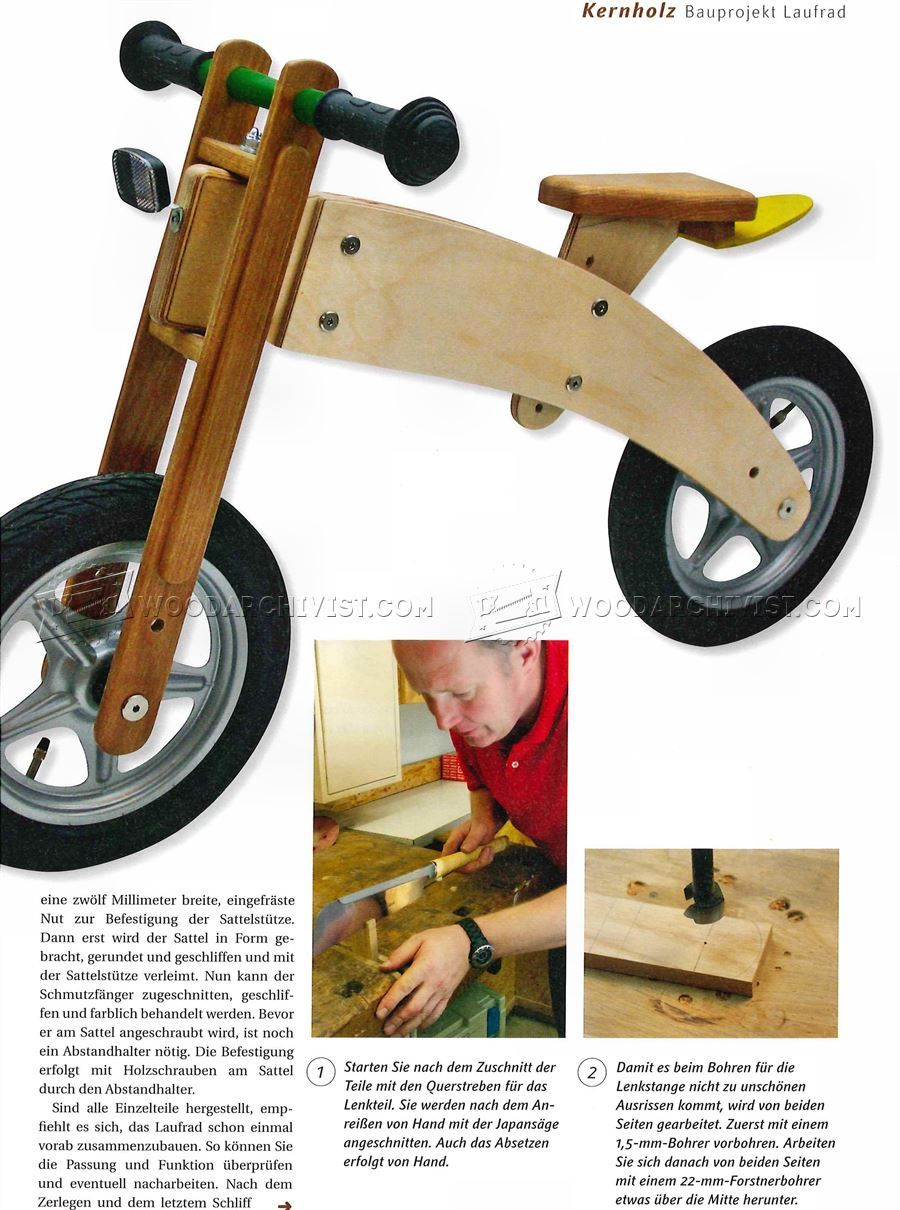 Balance Bike Plans Childrens Outdoor Plans Wooden Toy Plans
