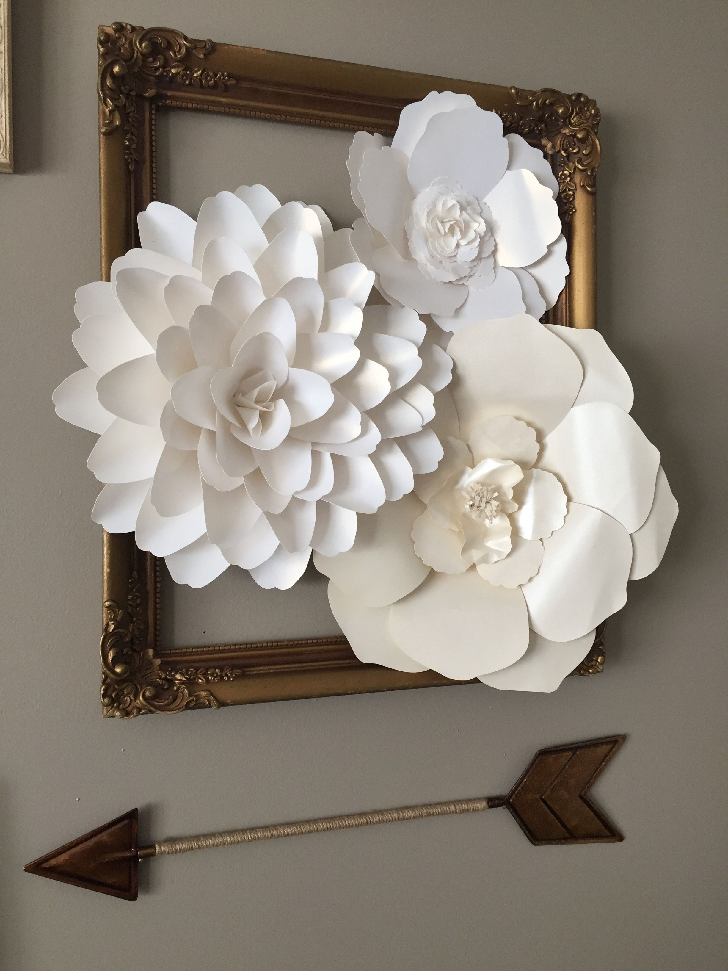 Nursery Decor Girl Nursery Paper Flowers For Nursery Flower
