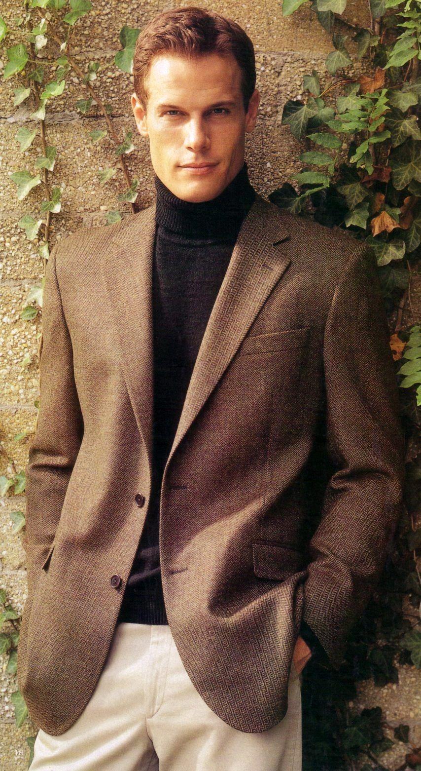 Brett Hollands by @Matt Albiani for @Brooks Brothers (Fall 2002) #BrettHollands #MattAlbiani #BrooksBrothers #BrooksBros #model #supermodel #Canadian #jacket