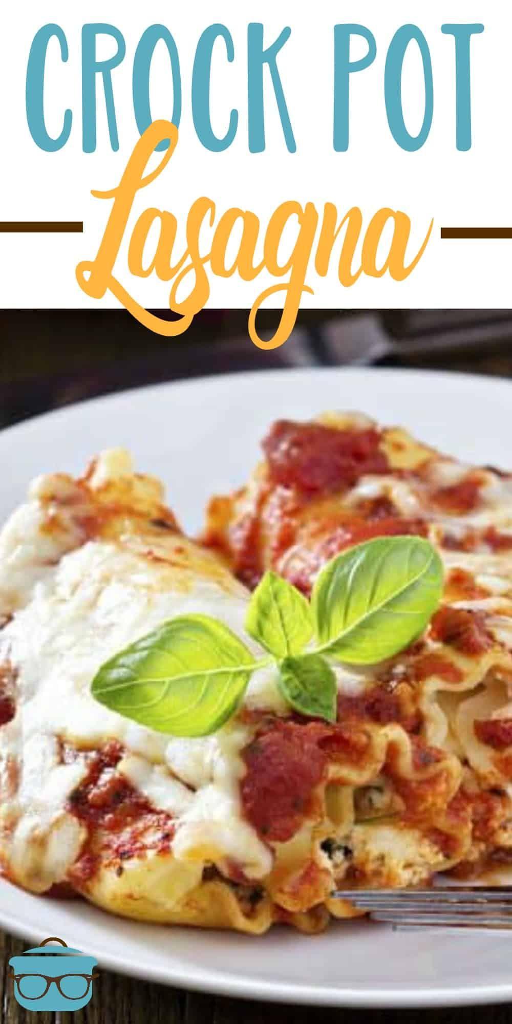 Crock pot lasagna images