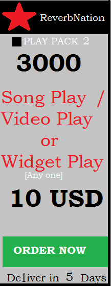 We provide real reverbnation plays.Reverbnation plays can increase your rank.