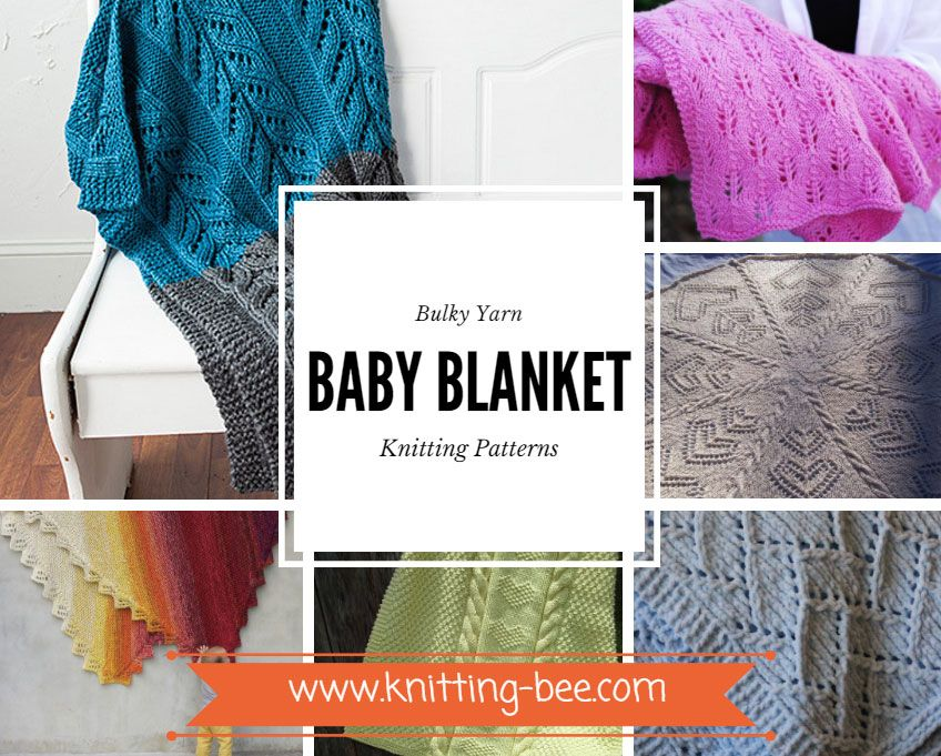 Bulky Yarn Baby Blanket Knitting Patterns www.knitting-bee.com ...