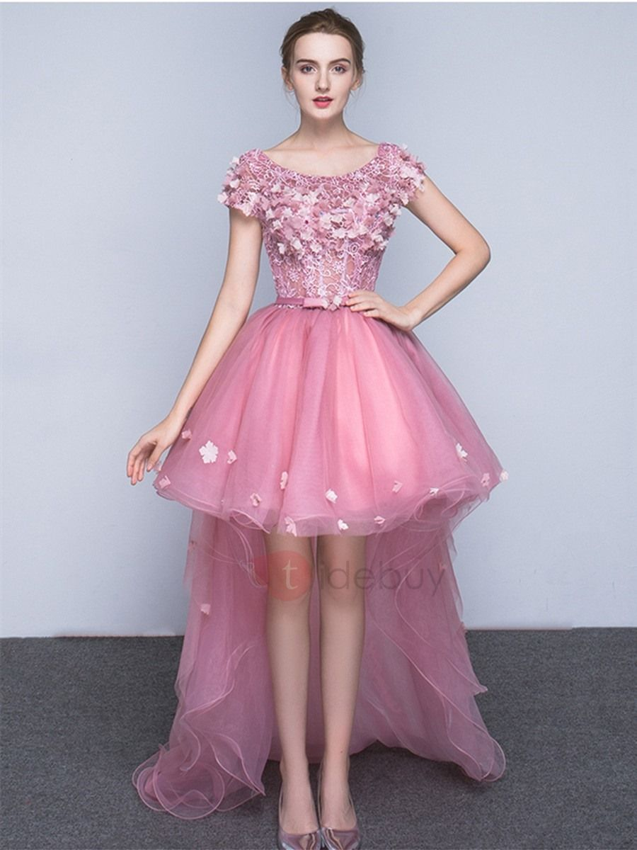 94f397d4cc Nice A-Line Scoop Cap Sleeves Appliques Bowknot Sashes Cocktail Dress