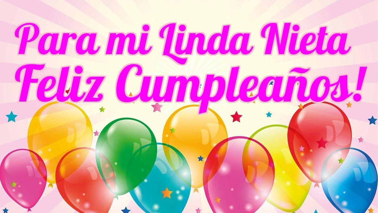Para Mi Linda Nieta Feliz Cumpleaños Feliz Cumpleaños