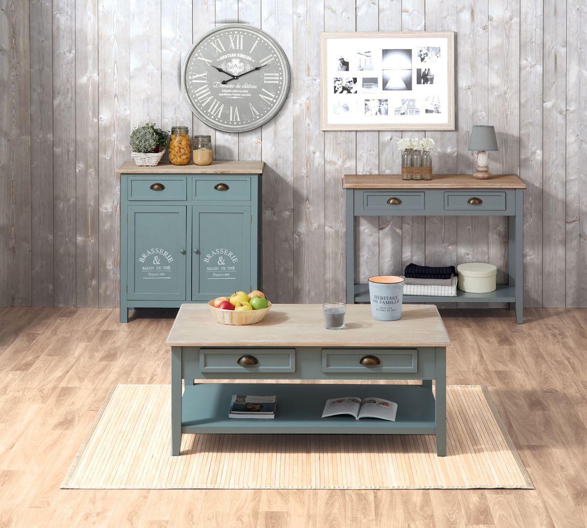 Le Salon Au Style Campagne Chic Mes Meubles Et Ma Deco Pinterest
