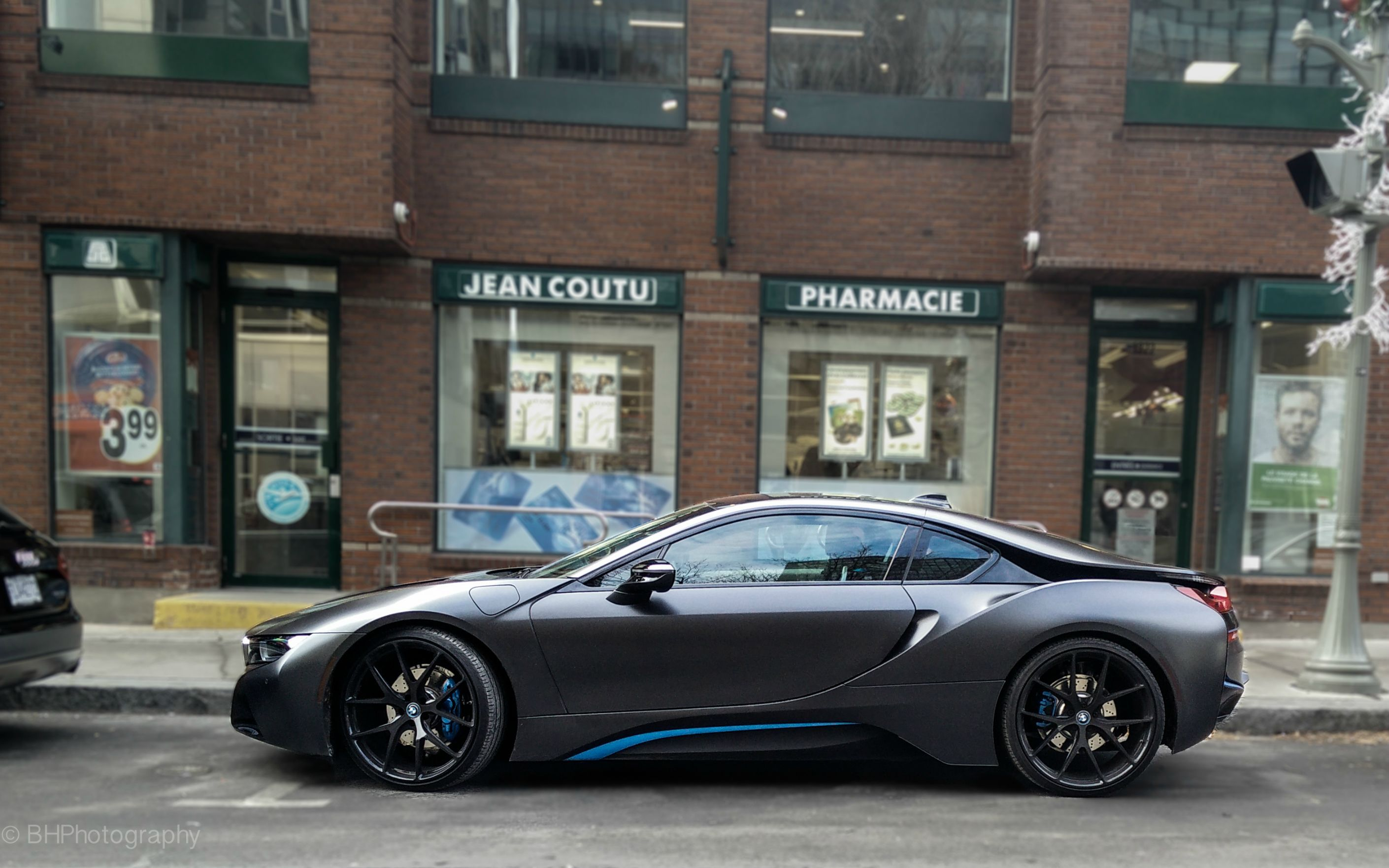 Matte Black BMW I8 [2820x1763] [OC] Home Design Ideas