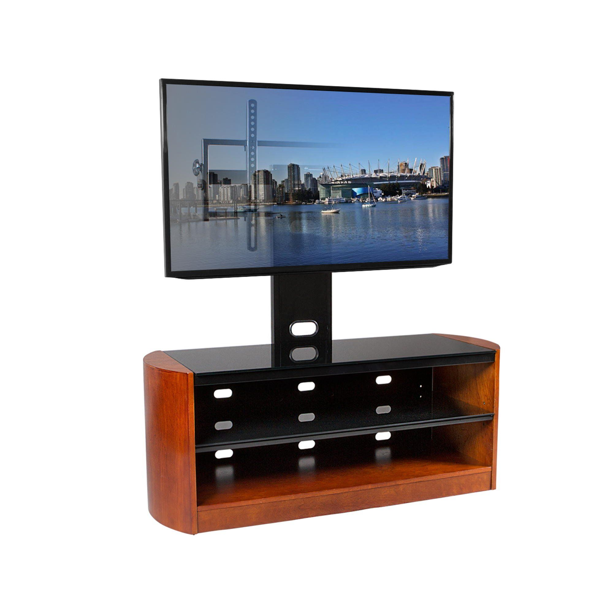 Tv Stands For 50 Flat Screens Kanto Mirpl50ch 50 Mirage Flat Screen Tv Stand With Mount And