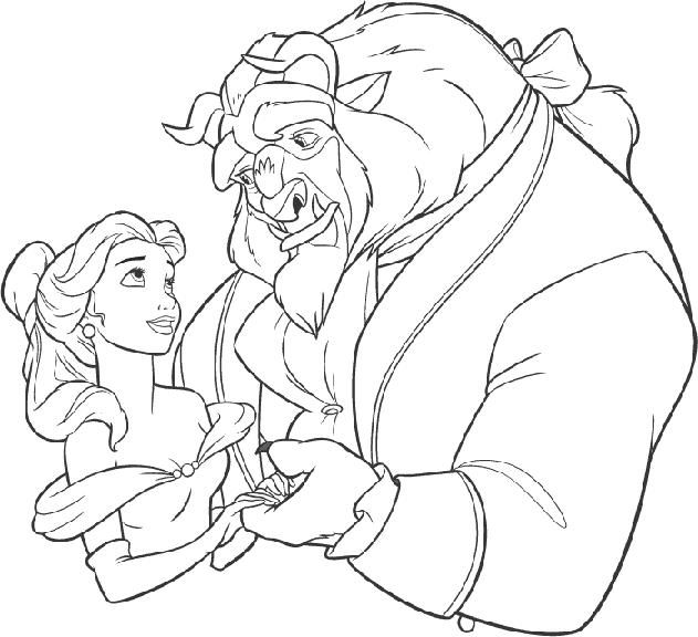 beauty and the beast wedding themed coloring books for the ...
