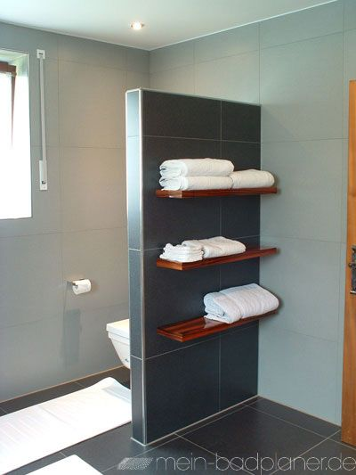 Raumteiler | Ablage Bad | Badezimmer ablage, Wandregal bad und ...