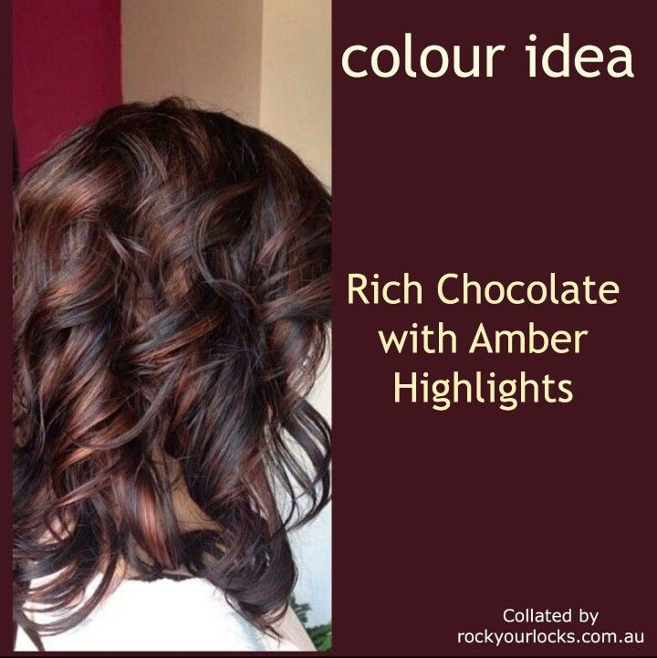 Chocolate And Amber Highlignts In 2018 Pinterest Hair Hair