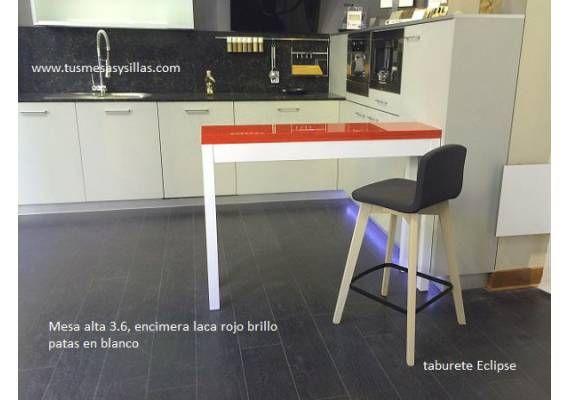 Mesa alta, barra o mostrador alto para cocina estrecha y extensible ...