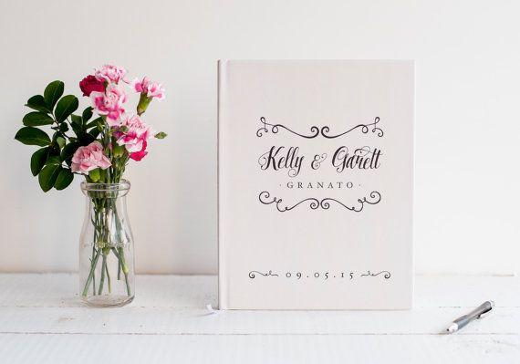 Wedding Guest Book Wedding Guestbook Custom by starboardpress