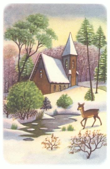 Free Christmas Scenes Clipart Christmas Scenes Vintage Christmas Cards Landscape Quilt