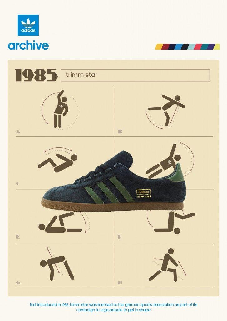 ¿Adidas Originals Trimm Star talla?Reino Unido exclusivo Adidas amante