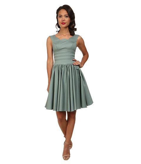 Unique Vintage Roman Holiday Dress Sage Green Dresses Holiday Dresses Unique Vintage