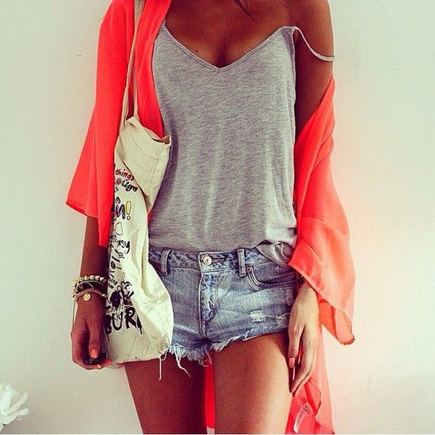 Image result for photos of  orange dresses and short pants