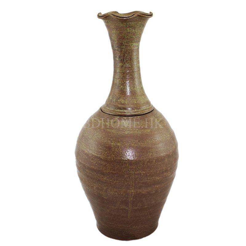花器 手拉陶瓷花器 褐色 陶瓷 W215*D215*H450mm