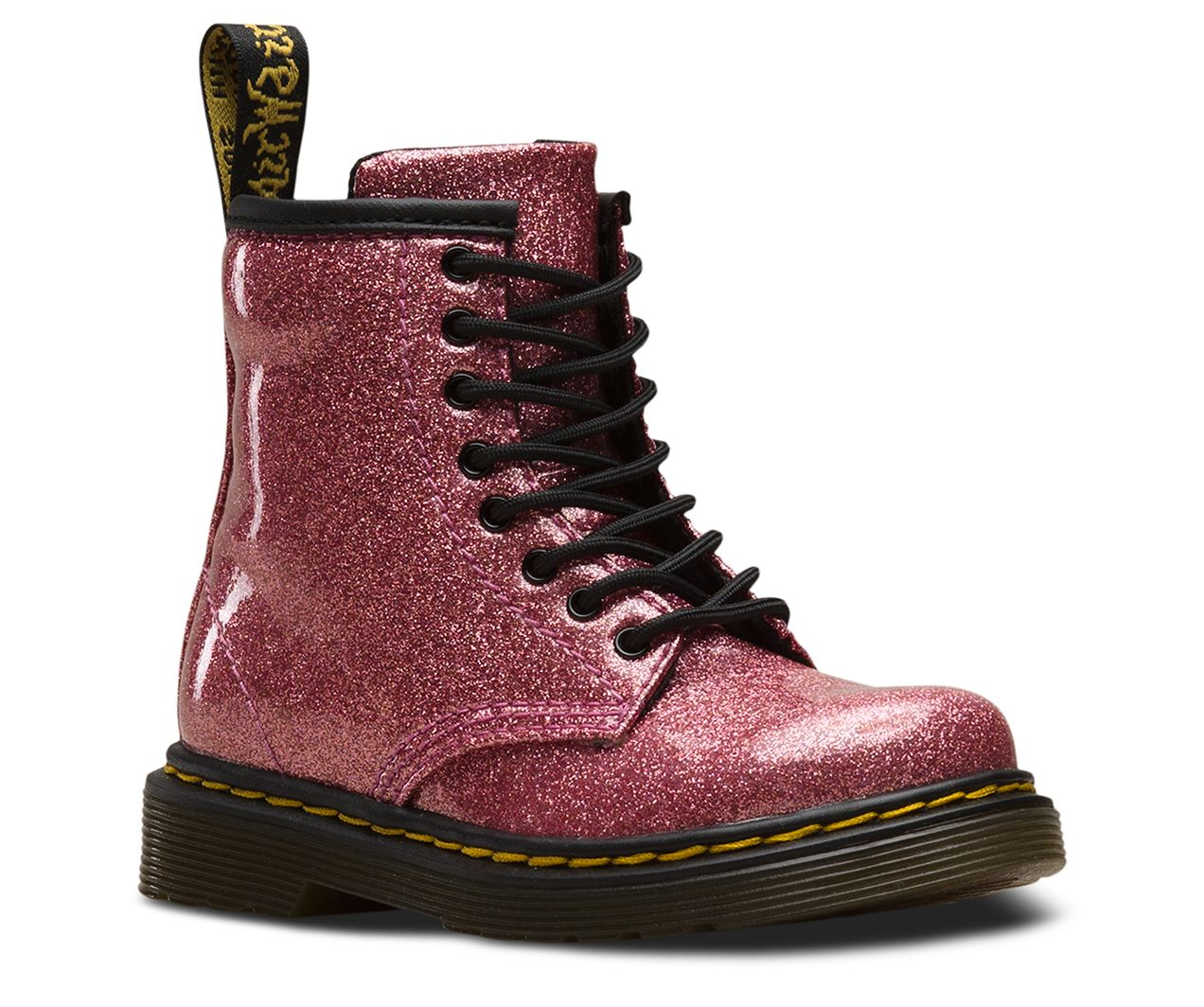 3dbb215e0425 Made for the most rebellious people on the planet — toddlers — this mini  version of our original 1460 boot comes in a shiny, sparkly glitter covered  with a ...