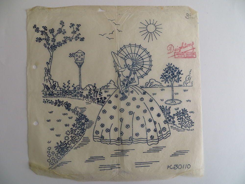 rr lady w/ parasol in cottage garden - #Ladies in Garden #Lady w ...