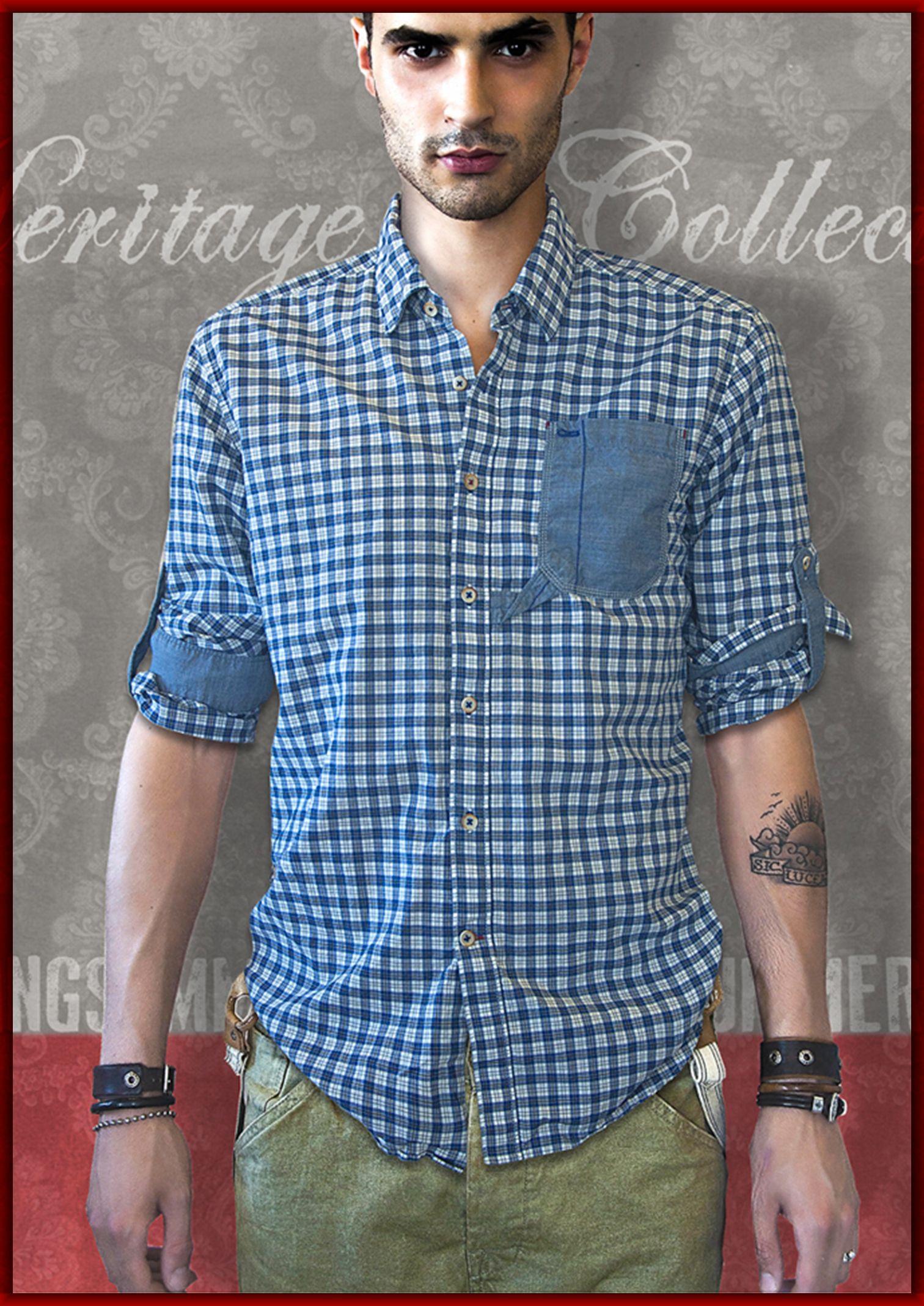 OSVALDO TRUCCHI  checked shirt