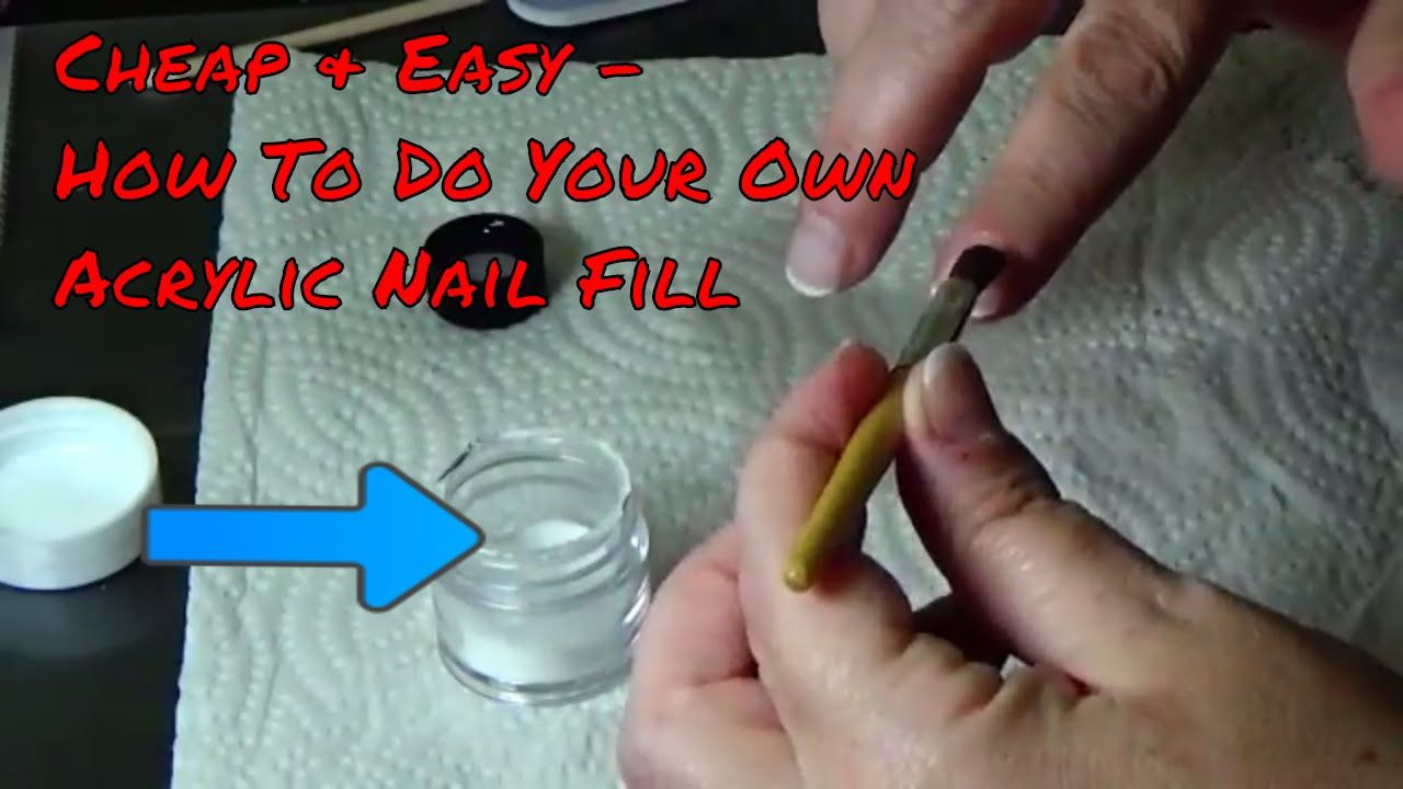 Cheap Easy How To Do Your Own Acrylic Nail Fill Acrylic Nails Diy Acrylic Nails Gel Overlay Nails