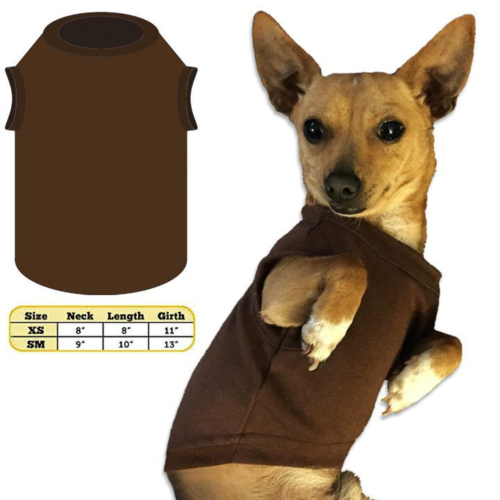 Brown Tank Style T-Shirt for Small Dogs