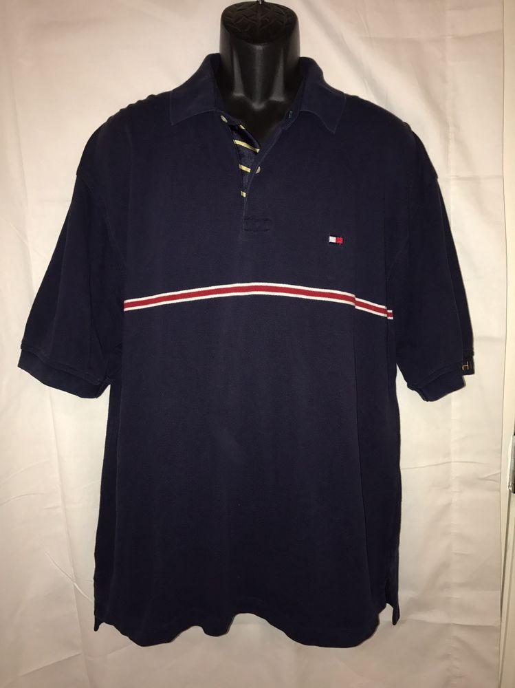 Tommy Hilfiger XL Navy Polo Short Sleeve Shirt Men's  | eBay
