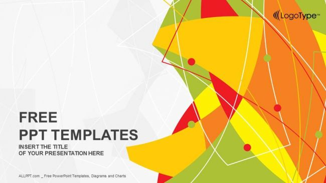 Abstract Line Vector Ppt Template List Of Free Powerpoint Design