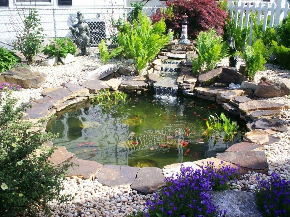Use Slate Around Pond Garden Pond Design Pond Landscaping