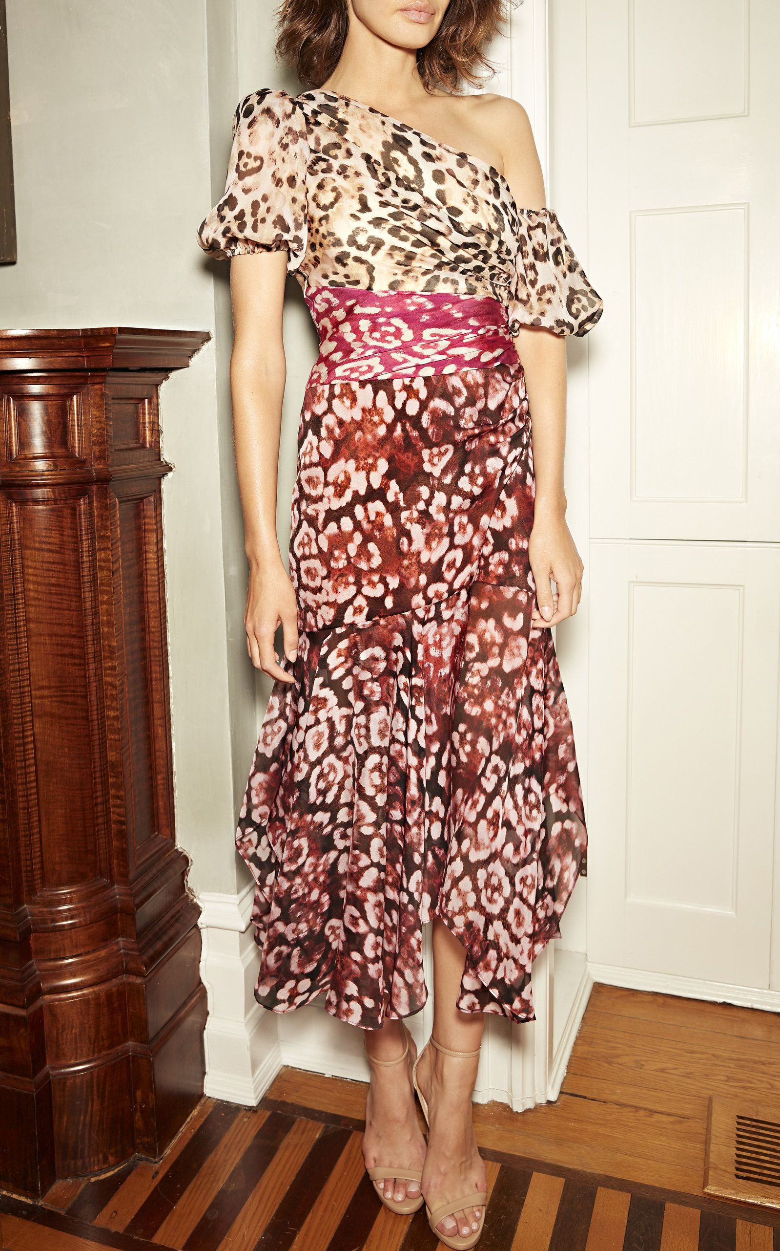 11a118ba8f Jaylah Printed Chiffon Dress by AMUR for Preorder on Moda Operandi