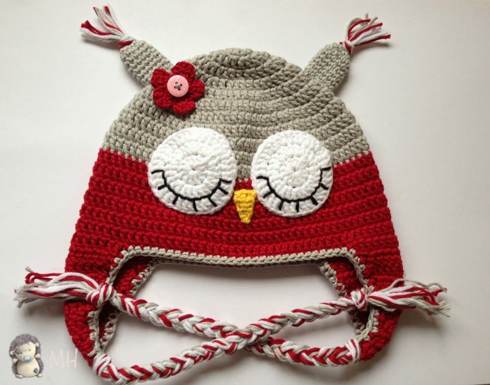 Gorro búho crochet … | bufandas | Pinterest | Gorros, Gorro tejido y ...