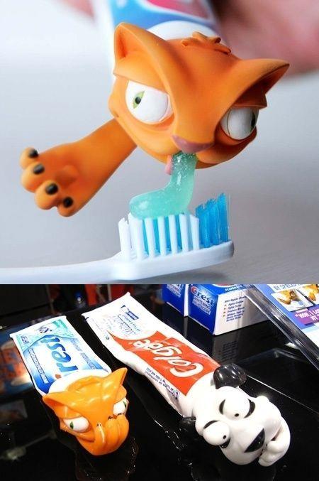 Tandpasta D Sjovt Billede Cool Inventions Kids Inventions