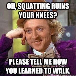 #Squats actually help contract the core, namely the abdominal area, effectively and efficiently.  #WorkoutHealthy