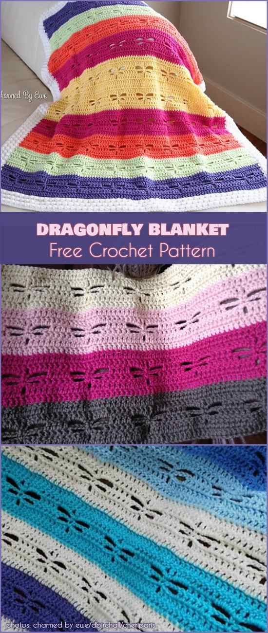 Dragonfly Blanket Free Pattern | Crochet | Pinterest | Häkeln ...