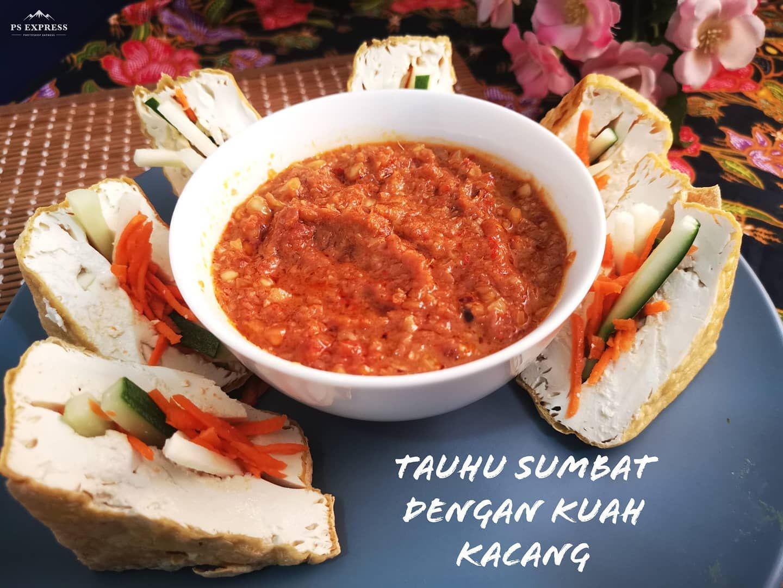 Tauhu Sumbat With Kuah Kacang Or Johoreans Called Kuah Pecal My Kuah Pure Vegetarian Cause I Didn T Use Vegetarian Cooking Vegetarian Recipes Cooking Recipes