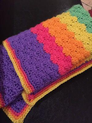 Shell Stitch Baby Blanket Crochet Projects Pinterest Shell