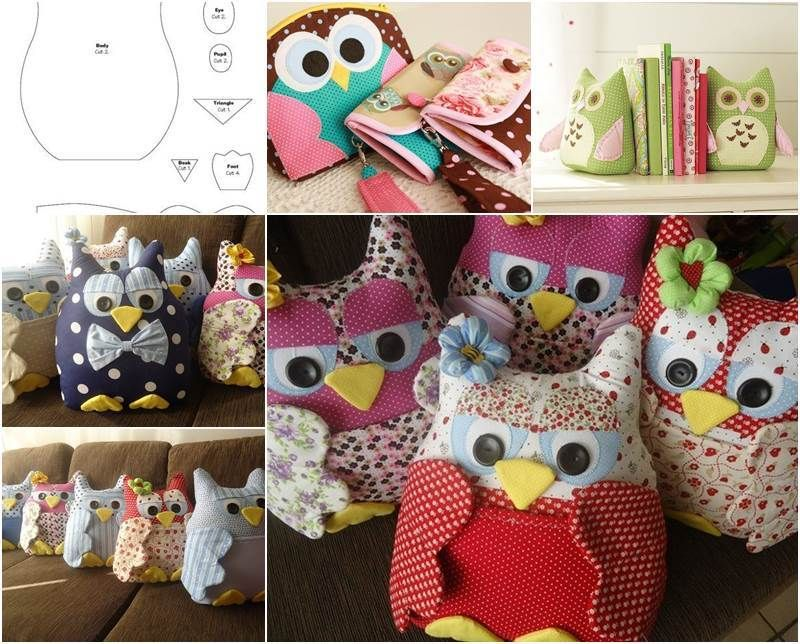 Creative Ideas Diy Cute Fabric Owl Ornaments With Free Pattern