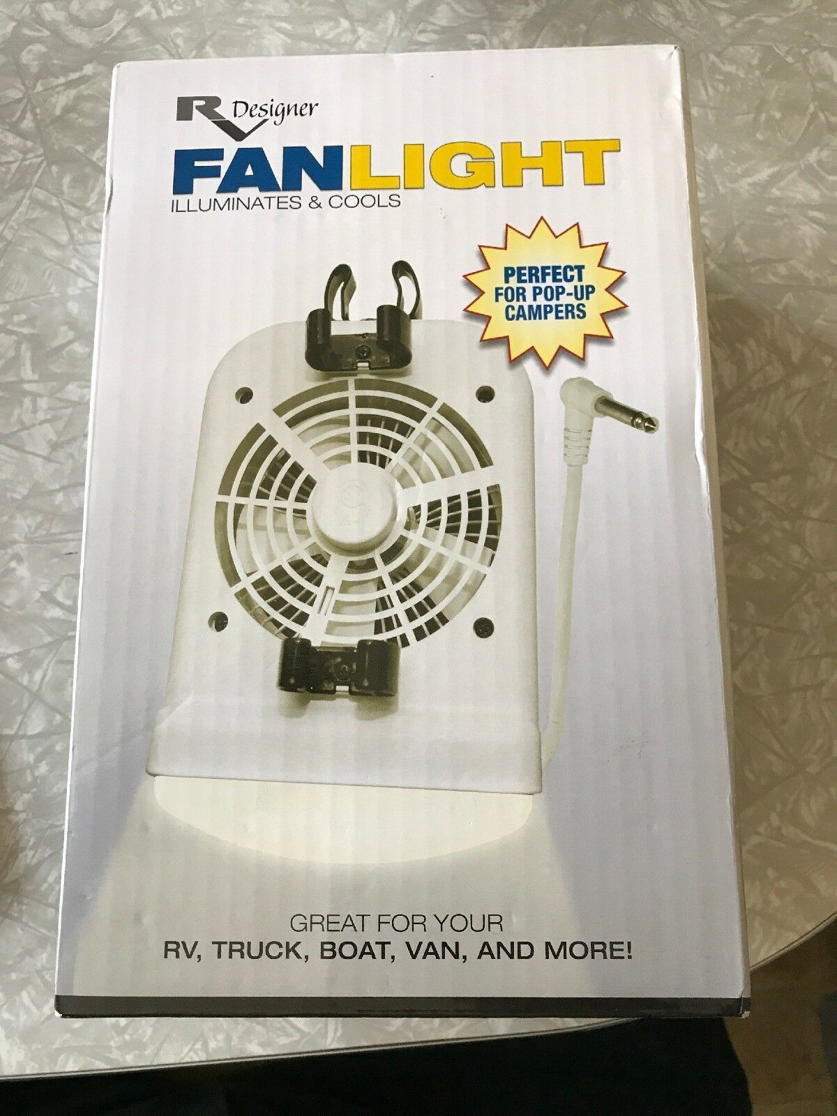 Rv Designer M550 12 Volt High Intensity Reading Light And Fan W Porta Lamp Jack Ebay Reading Light High Intensity Intense