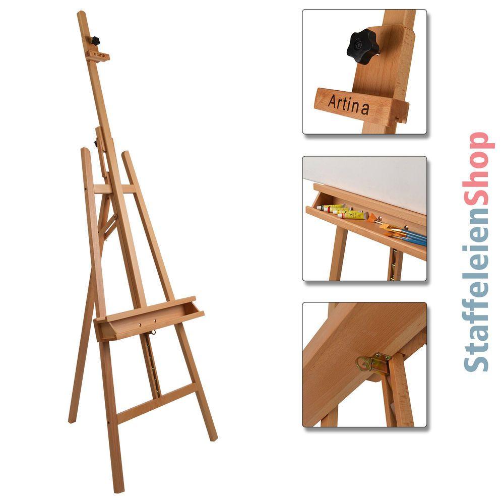 Staffelei Buche Atelierstaffelei Standstaffelei Holzstaffelei Akademiestaffelei