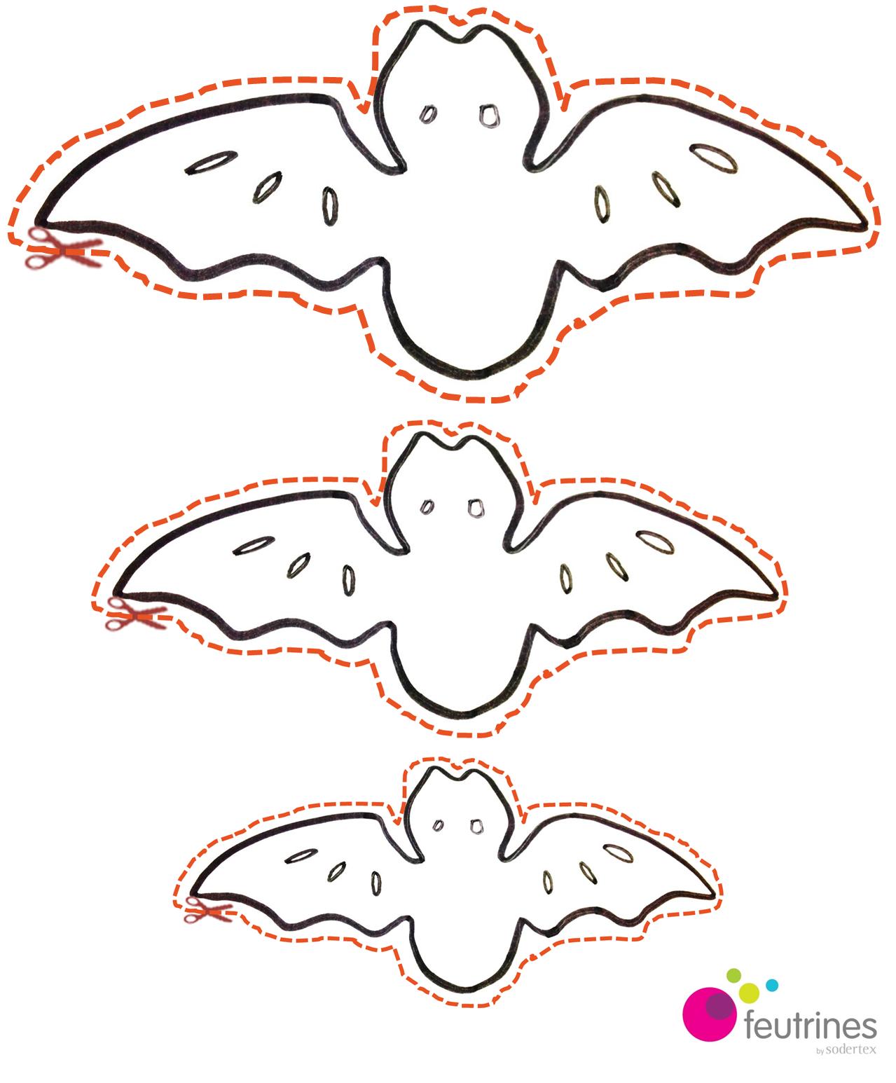 Bricolage facile Halloween Guirlande de chauve souris en